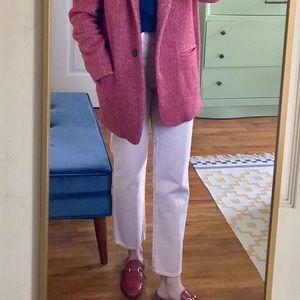 Jbrand Wynne denim jeans in dusty pink